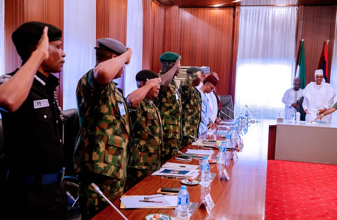 Buhari summons security chiefs, Aregbesola, others over banditry, illegal mining